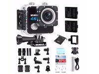 WIMIUS L1 4K 20MP Sports Action Camera HD Action Cam WiFi Underwater Camera 170° Wide View Angle