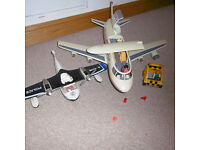 Two Playmobil Planes incl. little airport van