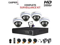 1080P 4CH DVR kit with 4 x 2.0MP CCTV HD Dome Cameras High Resolution Wide Range