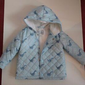 Beautiful baby dinosaur coat with thin fleece lining from Debenhams