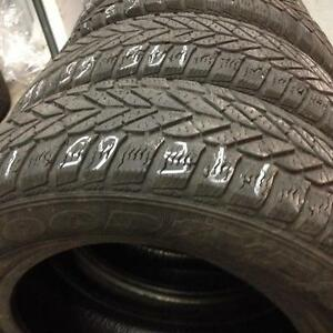 2 Goodyear winter tires:195/65R15