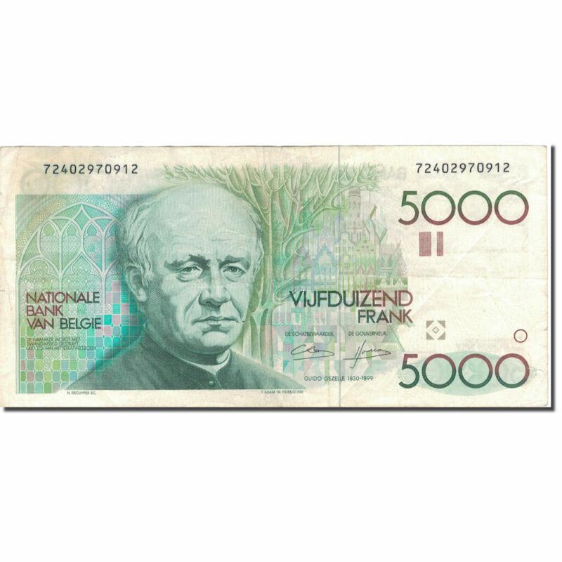 [#804243] Banknote, Belgium, 5000 Francs, UNDATED (1982-1992), KM:145a