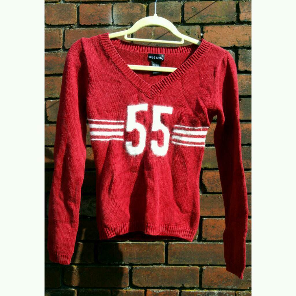 9a9e04ace868 Red Sweater from Wet Sealin Sheffield, South Yorkshire - Comfy American  style jumper with furry