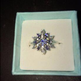 beautiful silver pandora snow flake ring