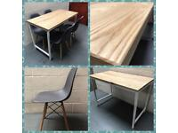 Dining table/4x chairs/solid ash/kitchen/dining room/home/Furniture/Bespoke/industrial