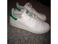 Green and White Stan Smiths