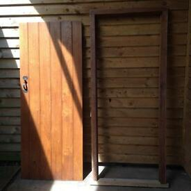 Solid oak door and free frame