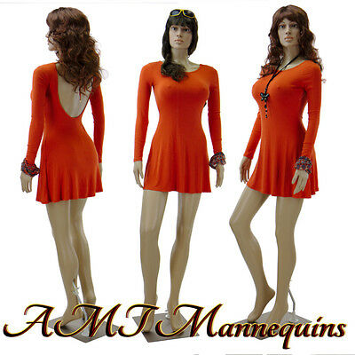 Female Plastic Sexy Mannequin Metal Standfull Body Realistic Manikin-f222wigs