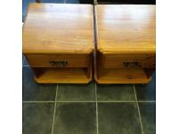 PAIR OF SOLID PINE ONE DRAWER BEDSIDE CABINETS WITH DOVETAIL JOINTS