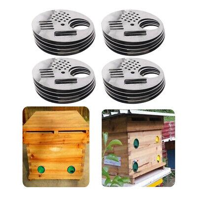 20pcs Rotating Bee Hive Entrance Beekeeping Equipment Bee Nest Door Vent