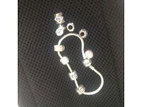 Genuine Pandora bracelet and charms