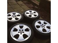 4 x Audi A3 Sport Alloy Wheels and Excellent Tyres