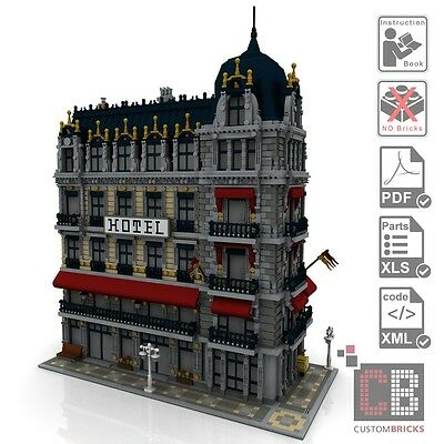 Lego® Steinen BR 99 PDF-Bauanleitung//Instruction Eisenbahn Dampflok 75955