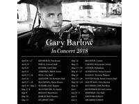 1 ticket for Gary Barlow at The Royal Concert Hall, Nottingham.