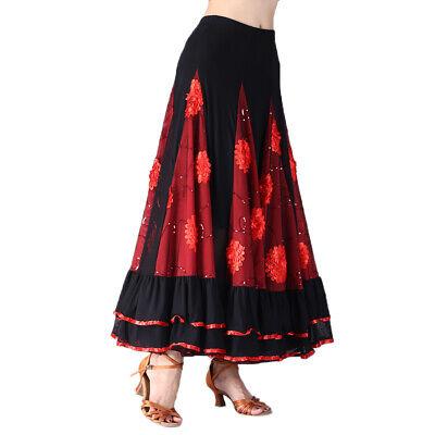 Damen Bauchtanz Kostüm Flamenco Tanzkleid Schwingen Tanz Rock (Bauchtanz Kleider Kostüm)