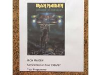 Iron Maiden Somewhere on Tour 1986/7 Tour Programme