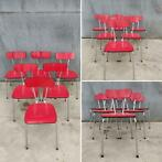 Chaises Formica - Rouge - (35 en stock)