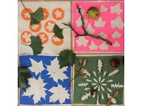 October half-term: Screen printing with autumn leaves