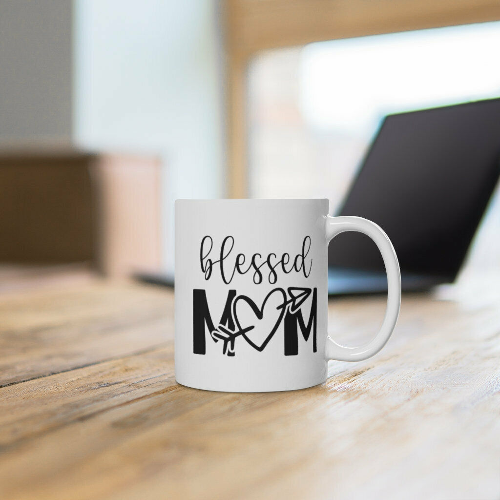 Blessed Mom Heart Coffee Mug Mother s Day Gift Cute Gift For Mom Mother s Day - $13.99