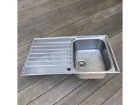 Franke Ascona single bowl 860mm x 510mm inset stainless steel sink