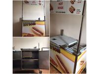 Aluminium hot dog cart for sale