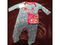 Newborn Christmas sleepsuit and dummys