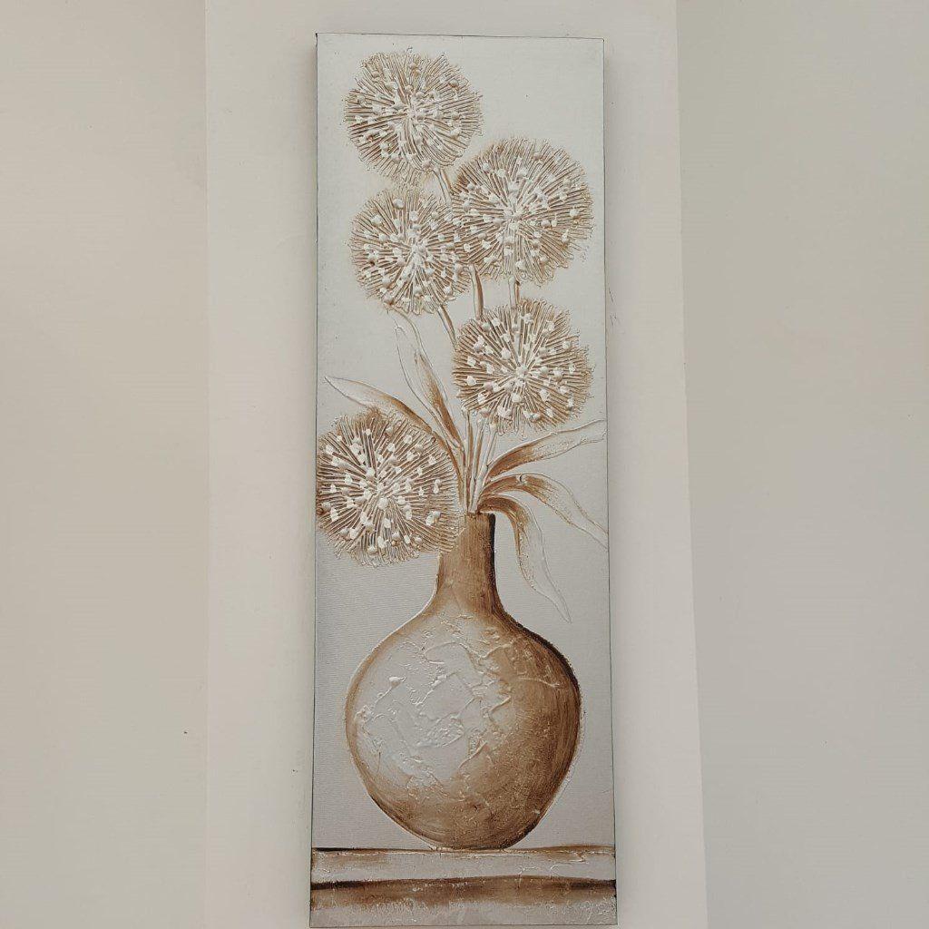 39dbd0eb7cea Textured Vase of Flowers Wall Art Panel