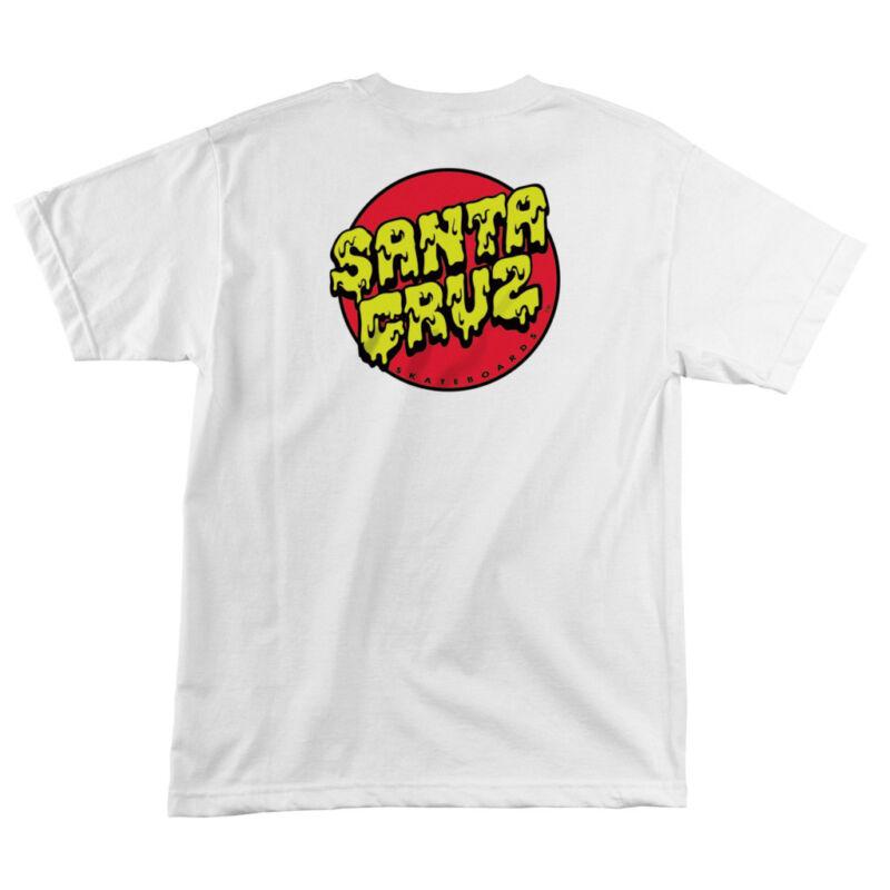 Santa Cruz SLIME DOT Skateboard T Shirt WHITE LARGE