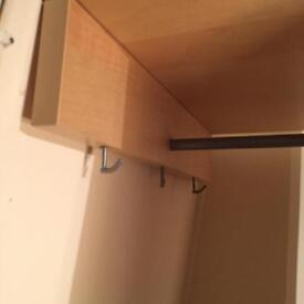 Ikea coat rack wood and mirror