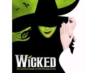 4x tickets for the Wicked Show tomorrow 21st of October @ 7:30pm. stalls seats