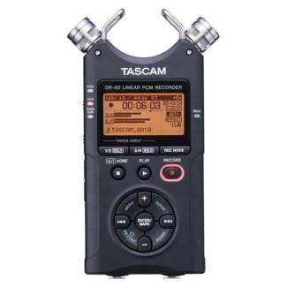 Tascam DR-40 Version 2 Handheld 4-Track Recorder