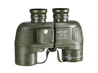 QUNSE X25 Compass and Rangefinder 10x50mm Large Object Lens Military Navigation HD Binoculars
