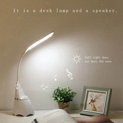 LED Desk Lamp Eye-caring Table Lamps Bluetooth Speaker Office Lamp Touch Control