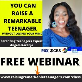 FREE MASTERCLASS FOR PARENTS OF TEENS to Raise Remarkable Teenagers.