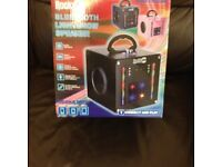 New Rock Jam Bluetooth Lightshow Speaker, colour pink.