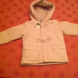 New Hooded coat 12-18 months
