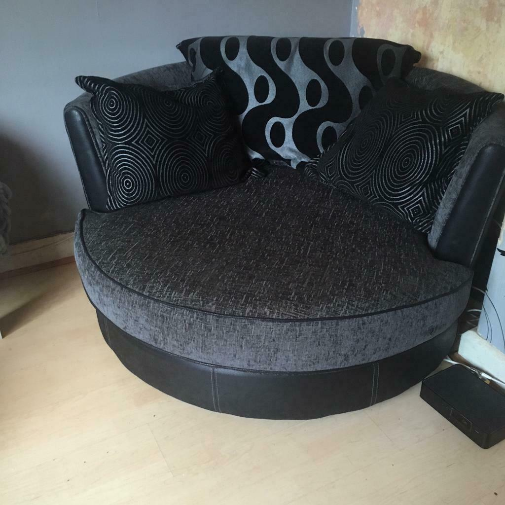 Dfs Swivel Cuddle Chair Immaculate