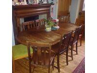 Twin Pedestal Extending Pine Table