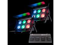 BRAND NEW IN BOX! ADJ DOTZ FLOOD PAIR INC WIRELESS CONTROLLER DMX LED DJ DISCO BAND LIGHTS LIGHTING