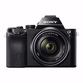 Sony Alpha A7 Compact System Mirrorless Camera with 28-70mm Lens