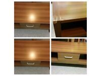 Coffee table and corner tv unit
