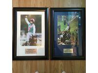 2 x Horse Racing / Race Horse Pictures - Frankie Detorri Magnificent 7 & The Amazing Frankel