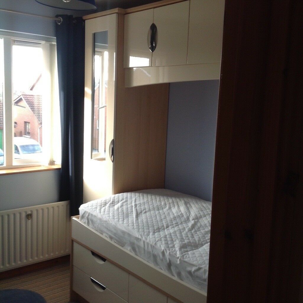 Cabin Bedroom Fitted Furniture: Starplan Fitted Bedroom Furniture Single Cabin Bed With
