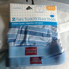 Brand new two pairs boys boxer shorts