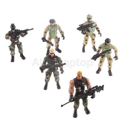 Spielzeug-waffen Für Kinder (6 Polizei Soldaten Action Figuren Sammlung Mit Spielzeug Waffen Für Kinder)