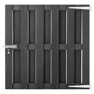 vidaXL Garden Gate WPC 100x100cm Grey Entrance Driveway Bonanza Fence Door