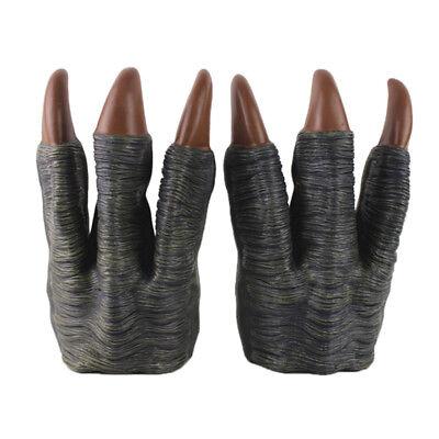 2PCS Tyrannosaurus Hand Puppet Gloves Dinosaur Design Claws Gloves Toys Grey