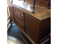 Reduced solid oak sideboard