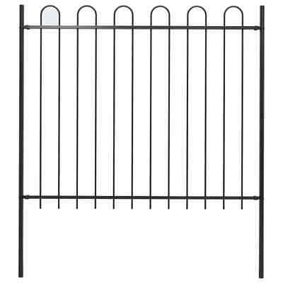 vidaXL Garden Fence Hoop Top Steel 1.7x1.5m Outdoor Panels Barrier Border