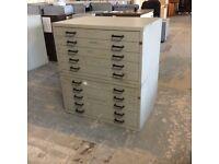 10 Drawer Metal Draughtsman Storage Cabinet